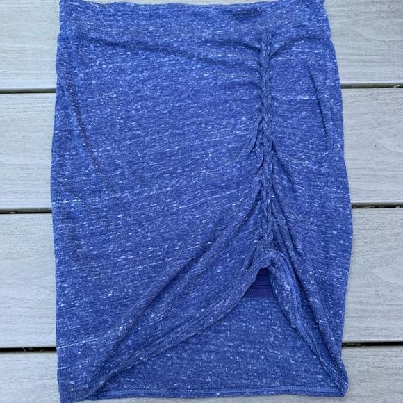 Free people blue skirt